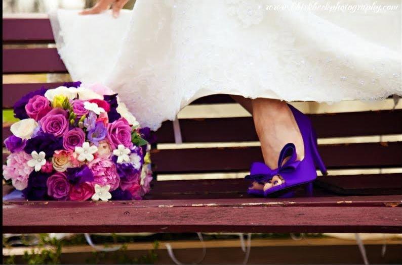 Casando com sapato colorido!